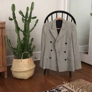 Vintage Donna Karan houndstooth blazer